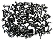 100 pcs Ford Lincoln Mercury Black Trim Screws- M4.2 x 20mm Long- 7mm Hex- #224H