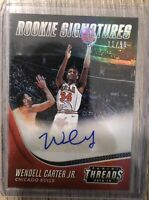 Wendell Carter Jr. 2018-19 Panini Threads RC Signatures Auto 11/90