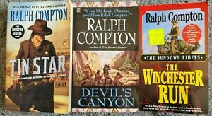 RALPH COMPTON SUNDOWN RIDERS ITLES WESTERN PAPERBACK 3 BOOK LOT NOVELS BOOKS
