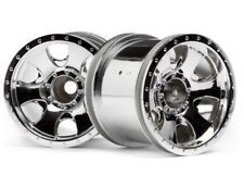 "HPI SAVAGE XS / XS Flux Vaughn Gittin Jr 2.2"" Warlock Wheel Chrome (2) 106722"