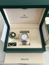Rolex Datejust 36mm Fluted Bezel White Gold 100% Genuine 116234 Boxs&papers
