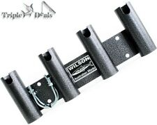 Wilson Bull Bar Rod Holder Black Hammertone Aluminium 4 Hole