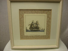 Kinder Harris Inc Framed Art Small Harbor Ships Piece 1 Style 1338  Retail $159
