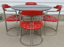 Daystrom Chrome Chairs Milo Baughman Mid Century Hollywood Regency Table Lounge