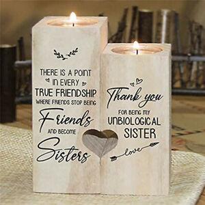 Wood Heart Shape Tea Light Candle Holder Decor Best Gift For Your Bestie 2021