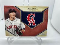 2019 Topps Series 1 MIKE TROUT Retro Hat Logo Patch Red parallel /25 Angel relic