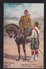 c1910 Tuck signed Payne Gordon Highlanders military in India uniform UK postcard