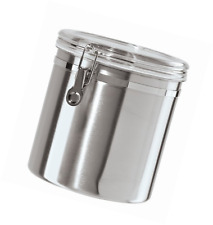 Oggi 150-Ounce Jumbo Stainless Steel Kitchen Airtight Canister with Clear Arylic