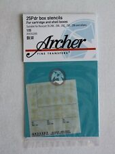Archer 1/35 25-Pounder Box Stencils for Cartridge and Shell Boxes AR35285