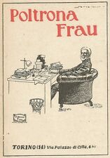 Z2344 Poltrona FRAU - Torino - Pubblicità 1928 - Vintage advertising