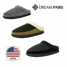 DREAM PAIRS Men Winter Suede Soft Faux Fur Lining House Slippers cozy Warm shoes