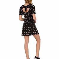 Women's VANS Floral Tie Dress Black New