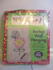"""Burlap Wall Hanging Craft Kit with 2 patterns 20"""" x 16"""""""