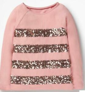 Copy of Mini Boden Girl's Sequin Stripe T-shirt, Grey Size 13-14Y