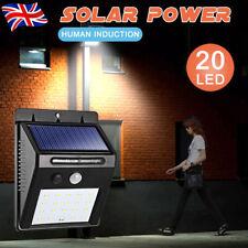 Solar Powered 20LED PIR Motion Sensor Wall Security Light Garden Outdoor Lamp UK