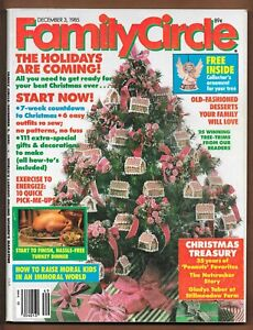 Family Circle Christmas Magazines Lot Of 5 1983-1986 Toys Stockings Gifts