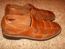 Cole Haan Fisherman Sandals Brown Leather Mens Size 10M