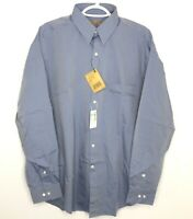 NWT Donna Karen Dress Shirt Mens Size 16 34/35  Blue Gray Button Front New Saks