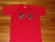 Under Armour Heatgear Loose Fit Short Sleeve Red T-Shirt Mens Small Excellent