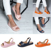 Women Summer Casual Shoes Slingback Flat Peep Toe Sandals Espadrilles Size 6-9.5