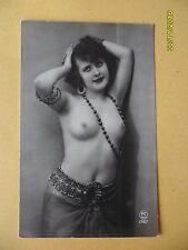 Original French 1910's-1920's Nude Erotic Postcard Pretty Lady Close Up #120