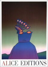 Jean-Michel Folon Belgian 1978 Poster Print Art 16 x 11