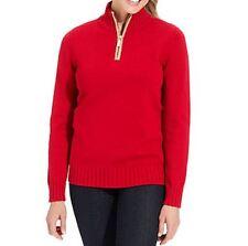 Karen Scott Eggshell Long-Sleeve Pullover Sweater Size Small