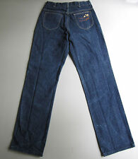 "Vintage High Waisted Mom Jeans Dark Blue Denim 28"""