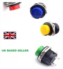 16mm Round Metal Push Button Momentary Switch  start horn washer bell 4 colours.