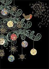 Bug Art Christmas Greeting Card - ROBIN TREE - BA-X-MC040