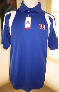 New With Tag! Antigua Desert Dry New York Giants Polo Blue White Sz M