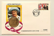1995 Isle of Man Queen Mother 95th Cover B/UNC Isle of Man Crown SNo21809