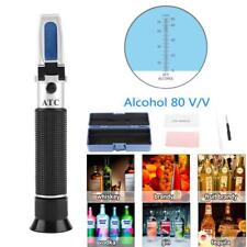 Alcohol Concentration Test Refractometer 0~80% Wine Spirits Tester Meter W/ Box