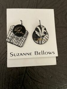 NEW SUZANNE BELLOWS SILK EARRINGS ASIAN THEME