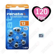 120 Batterie protesi acustiche apparecchi acustici RENATA MARATONE ZA 13 PR48
