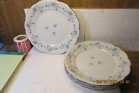 "Set of 4 Johann Haviland BLUE GARLAND 10"" DINNER PLATES Bavaria  Mint"