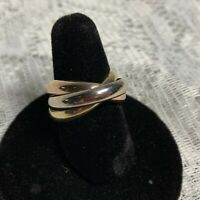 BEAUTIFUL CARTIER Trinity 18K Gold Ring Size 6 WITH CERTIFICATION.