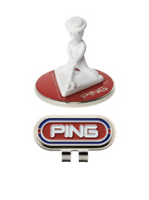 Ping Japan Golf Ball Clip Marker Mr. Ping AC-U207 Red