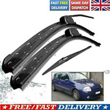For Renault Clio Mk2 98-05 1.2 1.4 1.9 Front Rear Windscreen Wiper Blades Kit UK