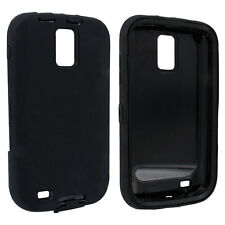 Black / Black Hybrid Hard Case Cover for Samsung Galaxy S II Hercules T989