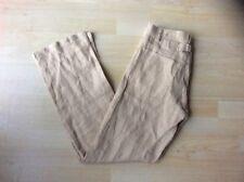 Vintage Ralph Lauren Ladies Beige Linen Trousers, Size: 2