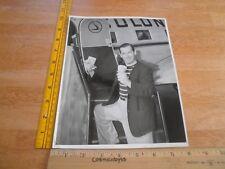 Milton Berle 1950's 8x10 Original photo flashing cash getting on airplaneVINTAGE