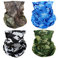 4 Camouflage Camo Face Mask Scarf Bandana Headband Neck Airsoft Motorcycle Bike