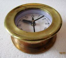 SHIP'S BRASS  Clock – Marine WALL Clock – ROMAN - BOAT / NAUTICAL (5010D)
