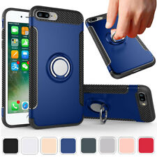 For iPhone 7 Plus 360 Rotating Holder Protection Magnet Stand Case Royal Blue
