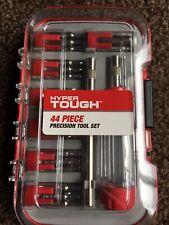 Hyper Tough 44 Piece Precision Screwdriver Bit Tool Set. Integral handle storage