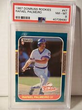 1987 Donruss Rookies Rafael Palmeiro RC PSA NM-MT 8 Baseball Rookie Card #47