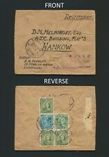 1941 CHINA COVER HANKOW TO D.M. MELNIKOFF, A JEWISH REFUGEE IN SHANGHAI, JUDAICA
