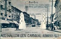 "Vintage Postcard Albany, New York  ALL HALLOWE'EN CARNIVAL ""North Gate"""