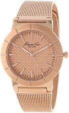 Kenneth Cole New York Womens Classic Triple Rose Gold Mesh Bracelet Watch KC4908